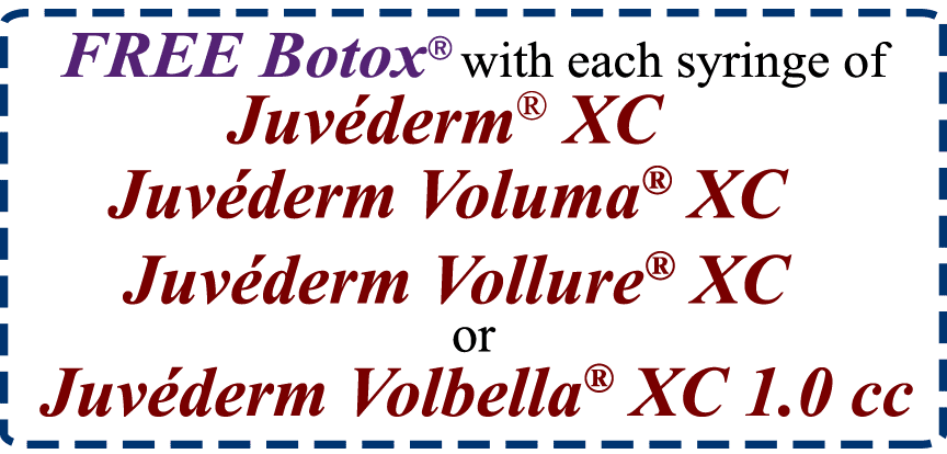 Free Botox with 1.0 cc Juvederm Purchase